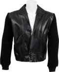 Music Memorabilia:Costumes, Johnny Cash Owned and Worn Black Jacket (c. 1960s)....