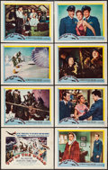 "Movie Posters:Adventure, Top of the World (United Artists, 1955). Lobby Card Set of 8 (11"" X14""). Adventure.. ... (Total: 8 Items)"