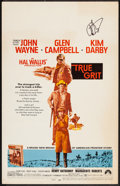 """Movie Posters:Western, True Grit (Paramount, 1969). Autographed Window Card (14"""" X 22""""). Western.. ..."""
