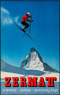 "Swiss Travel Posters (1960s-1970s). Posters (10) (25"" X 40""). Miscellaneous. ... (Total: 10 Items)"