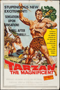 "Movie Posters:Adventure, Tarzan the Magnificent & Other Lot (Paramount, 1960). One Sheet(27"" X 41""). Adventure.. ... (Total: 2 Items)"