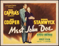 "Movie Posters:Drama, Meet John Doe (Goodwill Pictures, R-Mid 1940s). Title Lobby Card (11"" X 14""). Drama.. ..."