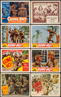 """Movie Posters:War, Gung Ho! & Others Lot (Universal, 1943/Film Classics,R-1948/Realart, R-1953). Title Lobby Cards (3) & Lobby Cards(5) (11"""" ... (Total: 8 Items)"""
