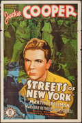 """Movie Posters:Crime, Streets of New York (Monogram, 1939). One Sheet (27"""" X 41"""").Crime.. ..."""