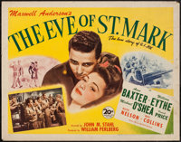 "The Eve of St. Mark (20th Century Fox, 1944). Half Sheet (22"" X 28""). War"