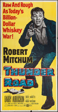 """Movie Posters:Crime, Thunder Road (United Artists, 1958). Three Sheet (41"""" X 79"""").Crime.. ..."""