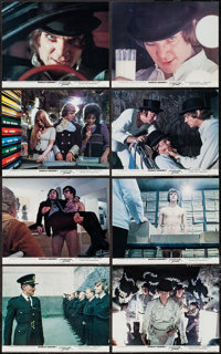 "A Clockwork Orange (Warner Brothers, 1971). British Front of House Color Photos (8) (8"" X 10""). Science Fictio..."