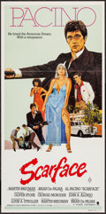 "Movie Posters:Crime, Scarface (Universal, 1983). Australian Daybill (13"" X 30""). Crime....."