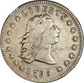 Early Dollars, 1795 $1 Flowing Hair, Three Leaves -- Obverse Scratched -- NGCDetails. VF. B-5, BB-27, R.1....