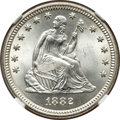 Seated Quarters, 1882 25C MS66+ NGC....
