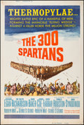 "Movie Posters:Action, The 300 Spartans (20th Century Fox, 1962). Poster (40"" X 60"") StyleZ. Action.. ..."