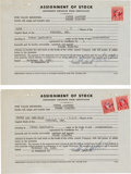 Movie/TV Memorabilia:Autographs and Signed Items, A Peter Lawford Set of Signed Documents, 1961....
