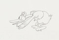 Animation Art:Production Drawing, The Dognapper Donald Duck Production Drawing Animation Art (Walt Disney, 1934)....