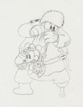 Animation Art:Production Drawing, The Klondike Kid Minnie Mouse and Peg-Leg Pete ProductionDrawing Animation Art (Walt Disney, 1932)....