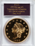 "S.S.C.A. Relic Gold Medals, (2001) $50 SSCA Relic Gold Medal ""1855 Kellogg & Co.Fifty"" Gem Proof PCGS...."