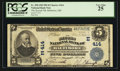National Bank Notes:Maryland, Baltimore, MD - $5 1902 Plain Back Fr. 598 The Second NB Ch. # (E)414. ...