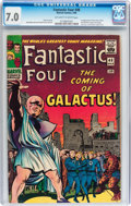 Silver Age (1956-1969):Superhero, Fantastic Four #48 (Marvel, 1966) CGC FN/VF 7.0 Off-white to white pages....