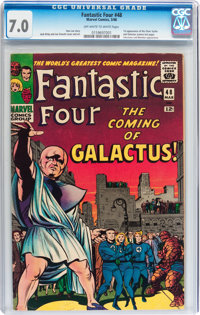Fantastic Four #48 (Marvel, 1966) CGC FN/VF 7.0 Off-white to white pages