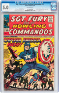 Silver Age (1956-1969):Superhero, Sgt. Fury and His Howling Commandos #13 (Marvel, 1964) CGC VG/FN 5.0 Off-white pages....