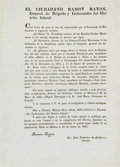 Miscellaneous:Broadside, Restoration of Order in Coahuila and Texas Decree....