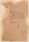 Miscellaneous:Ephemera, Circular Announcing the Release of Antonio López de Santa Anna fromCaptivity....