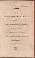 Miscellaneous:Ephemera, [Sam Houston]. Message from the President of theRepublic....