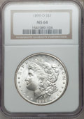 Morgan Dollars: , 1899-O $1 MS64 NGC. NGC Census: (23891/8748). PCGS Population(21760/8782). Mintage: 12,290,000. Numismedia Wsl. Price for ...