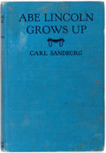 Books:Americana & American History, Carl Sandburg. Abe Lincoln Grows Up. Harcourt, Brace andCompany, 1931. Publisher's original light blue cloth. B...