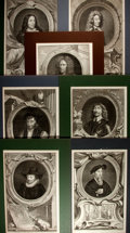 Books:Prints & Leaves, [Antique Engraving] Lot of Seven Superb 18th Century EngravedPortraits of Eminent European Men. Matted to an overall size o...
