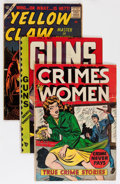 Golden Age (1938-1955):Miscellaneous, Comic Books - Assorted Golden and Silver Age Comics Group (Various Publishers, 1950-63) Condition: Average GD+.... (Total: 11 Comic Books)