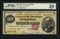 Large Size:Gold Certificates, Fr. 1178 $20 1882 Gold Certificate PMG Very Fine 20 Net.. ...