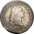 Early Dollars, 1795 $1 Flowing Hair, Two Leaves -- Harshly Cleaned -- NGC Details.VF. B-1, BB-21, R.2....