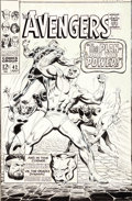 "Original Comic Art:Covers, John Buscema and George Roussos (as George Bell) TheAvengers #42 ""The Plan and the Power"" Cover Original Art(Mar..."