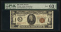 Small Size:World War II Emergency Notes, Fr. 2304 $20 1934 Mule Hawaii Federal Reserve Note. PMG ChoiceUncirculated 63 EPQ.. ...
