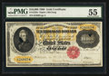 Large Size:Gold Certificates, Fr. 1225e $10,000 1900 Gold Certificate PMG About Uncirculated 55.....