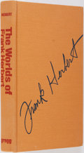 Books:Science Fiction & Fantasy, [Frank Herbert]. SIGNED. David G. Hartwell, Editor. SIGNED. The Worlds of Frank Herbert. Boston: Gregg Press, 1980. First ed...