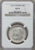 1923-S 50C Monroe AU55 NGC. NGC Census: (19/3499). PCGS Population (43/3777). Mintage: 274,077. Numismedia Wsl. Price fo...