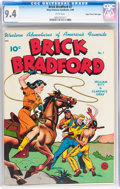 Golden Age (1938-1955):Western, Brick Bradford #7 Mile High pedigree (Better Publications, 1949)CGC NM 9.4 White pages....