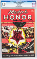 Golden Age (1938-1955):War, Medal Of Honor Comics #1 (Curtis , 1946) CGC VF- 7.5 Off-whitepages....