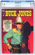 Golden Age (1938-1955):Western, Buck Jones #5 (Dell, 1952) CGC VF- 7.5 Off-white to white pages....