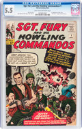 Silver Age (1956-1969):War, Sgt. Fury and His Howling Commandos #1 (Marvel, 1963) CGC FN- 5.5 Light tan to off-white pages....