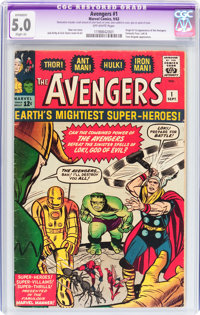 The Avengers #1 (Marvel, 1963) CGC Apparent VG/FN 5.0 Slight (A) Off-white pages