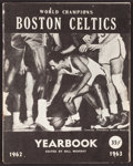 Basketball Collectibles:Programs, 1962-63 Boston Celtics Multi Signed Yearbook....