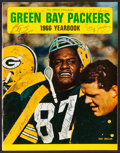 Football Collectibles:Publications, 1966 Green Bay Packers Team Signed Yearbook....