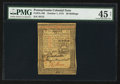 Colonial Notes:Pennsylvania, Pennsylvania October 1, 1773 20s PMG Choice Extremely Fine 45 Net.....