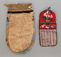 American Indian Art:Beadwork and Quillwork, TWO TLINGIT BEADED POUCHES. c. 1890... (Total: 2 )