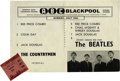 Music Memorabilia:Tickets, Beatles Winter Gardens Concert Ticket Stub. A used ticket to theirJuly 13, 1963, performance at Winter Gardens in Kent, the...(Total: 1 Item)
