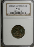 Proof Seated Quarters, 1873 25C No Arrows, Closed 3 PR65 NGC. NGC Census: (25/15). PCGSPopulation (12/4). Mintage: 600. Numismedia Wsl. Price for...