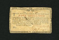 Colonial Notes:New York, New York August 2, 1775 (Water Works) 4s Very Fine-ExtremelyFine....