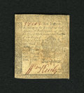 Colonial Notes:Pennsylvania, Pennsylvania April 25, 1776 6d Very Fine....